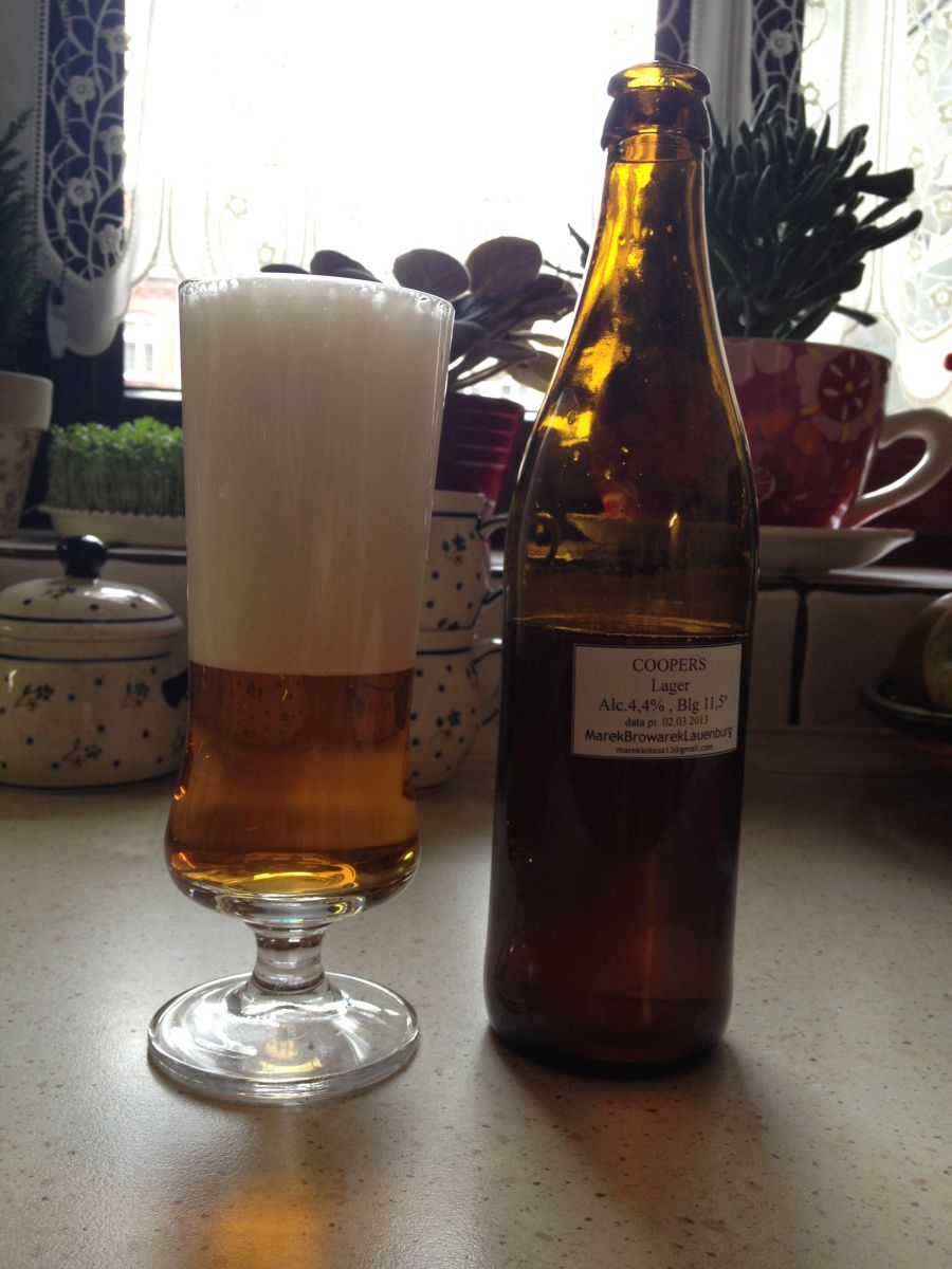 Coopers Lager - wynik