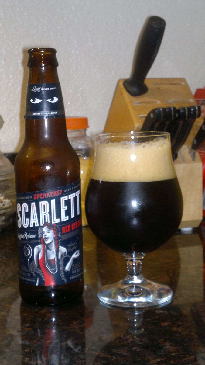 Scarlett Red Rye Ale, Speakeasy