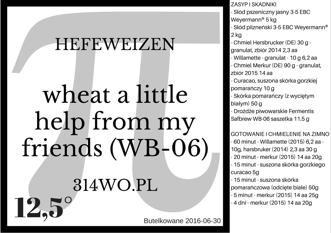 wheat A little help from My friends WB 06