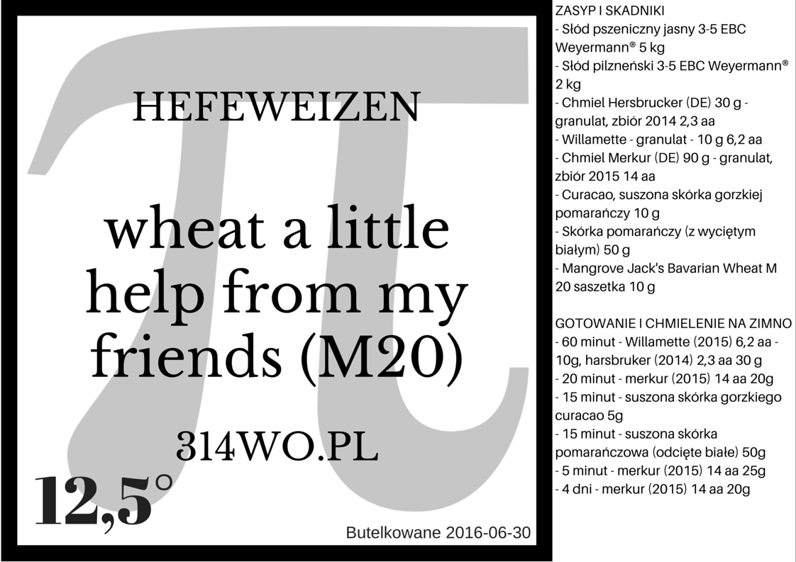 wheat A little help from My friends M20
