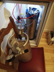 Transfer to serving keg